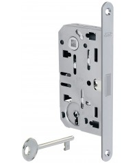Дверной замок (магнитная защелка)  AGB Polaris XT под сувальдный ключ (матовый хром)